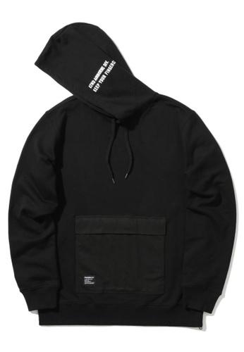 Fingercroxx black Flap pocket hoodie 1D79DAA8E68C9EGS_1