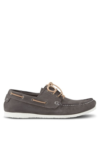 Dune London grey Belize Lace Up Boat Shoes DU588SH87UDSMY_1