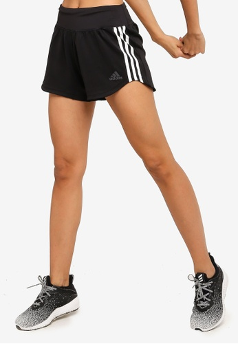 ADIDAS black 3 stripes woven gym shorts 2D349AA671D8DCGS_1