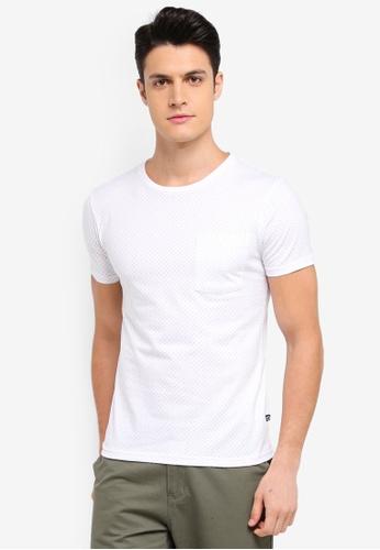 Penshoppe 白色 圓點印花T恤 799F3AA903044CGS_1