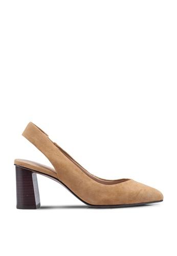 Banana Republic 米褐色 Slingback Pump Low Block Heels 5BDD6SHE804794GS_1