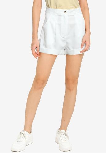 ZALORA BASICS white Darted Shorts 63BC1AAF98DCF2GS_1
