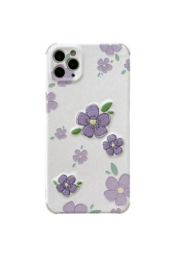 Kings Collection white Embroidery Flower iPhone 11 Case (KCMCL2157) CB9A2AC2AE06FEGS_1