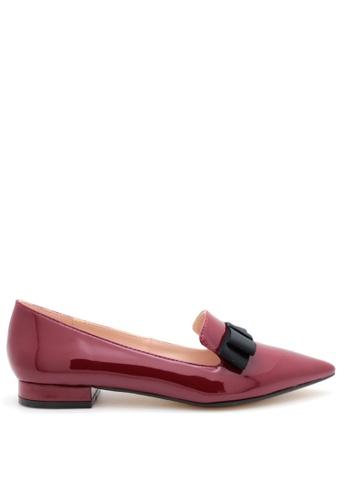 PRODUIT PARFAIT red Patent Pointed Toe Ballerina 6420CSH55C75A1GS_1