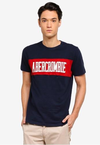 Abercrombie & Fitch navy Tech Logo T-Shirt 958C8AA25B6A50GS_1