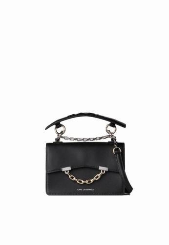 KARL LAGERFELD black K/Karl Seven Mini Shoulderbag 8415CACB195D38GS_1