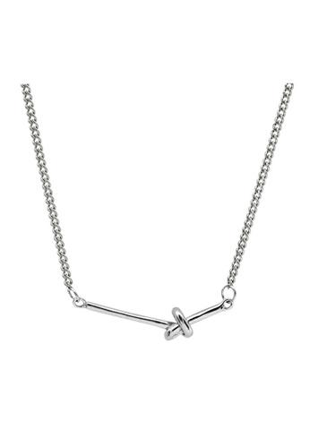 LYCKA silver LDR1242 S925 Silver Minimal Knot Necklace 42EBFACC09F224GS_1