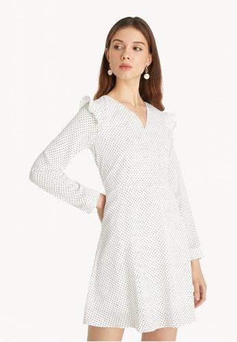 Pomelo white Frill Mini Dress - White 0BEA8AA336338EGS_1
