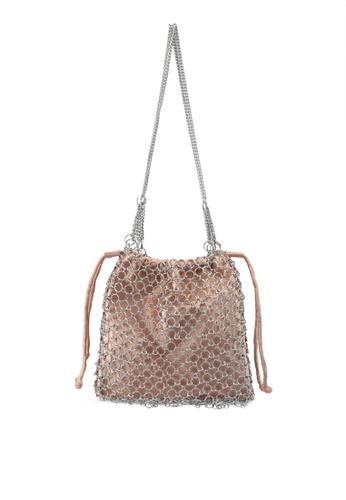 TOPSHOP pink Cage Drawstring Shoulder Bag CBC20ACEC17AD6GS_1