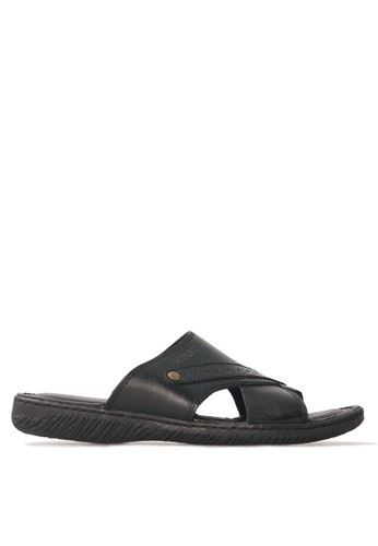 Tony Perotti black Tony Perotti Sandal Arthur - Black TO890SH0VNCVID_1