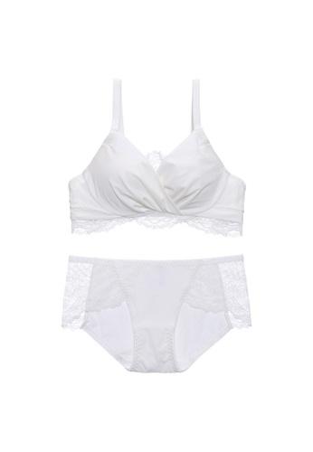 Midnight 白色 Premium Lace White Lingerie Set (Bra and Underwear) 2CDEEUS108FFA8GS_1