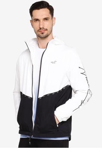 Hollister white Fleece Lined Jacket 6CAE7AAFC0B2DEGS_1