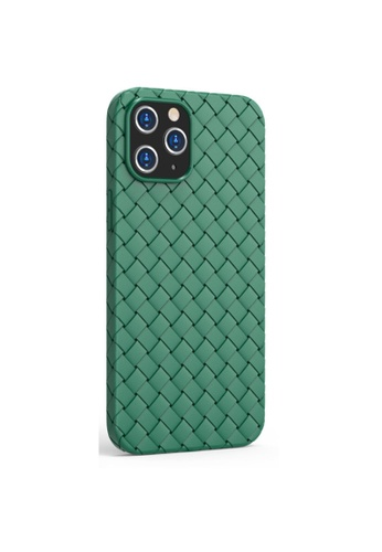 Kings Collection green Classic Woven Pattern iPhone 12 Pro / 12 Case (KCMCL2259) 65F53AC0B3B213GS_1