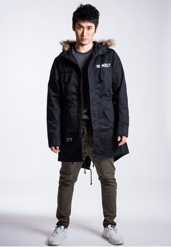 L.I.M.I.T.E black Hooded Jacket With Detachable Quilted Lining LI425AA0FCK0SG_1