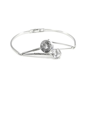 Glamorousky silver Elegant Bangle with Silver CZ 2C2B1AC1C37253GS_1