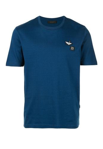 D'urban blue Patch Detail T-Shirt 0AB63AAE8D7000GS_1