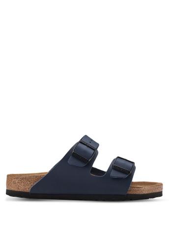 Birkenstock blue Arizona Birko-Flor Sandals BI090SH52HNRMY_1