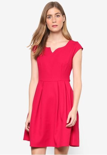 Jewel 起褶蓋esprit 請人袖連身裙, 服飾, 夏日洋裝