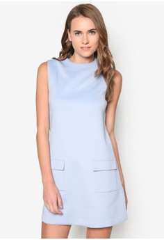 Collection Flap Pocket Detail Shift Dress