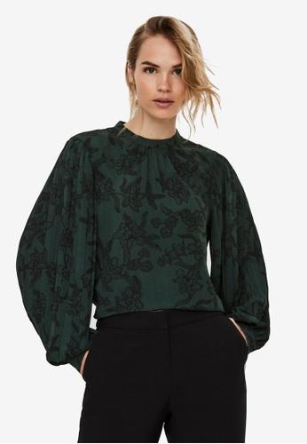 Vero Moda green Filip Long Sleeve Top 7E157AACCE4DBAGS_1