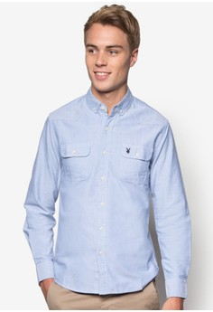 Playboy Pocket Woven Long Sleeve Shirt