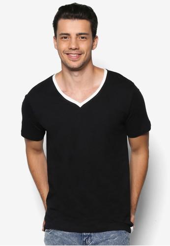 V-Neck Elongated esprit holdingsVarsity Tee, 服飾, T恤