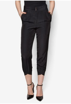 Out of the Shadow High Waisted Pants In Black