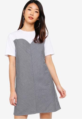Something Borrowed white Bustier Shift Tee Dress F66E4AA8691188GS_1