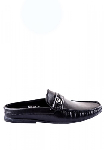 Otto black Mule Loafers with Buckles 5F168SH458AD93GS_1
