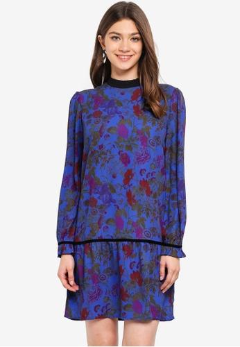 ONLY blue Emma L/S Ruffle Dress 5225CAA24795FAGS_1