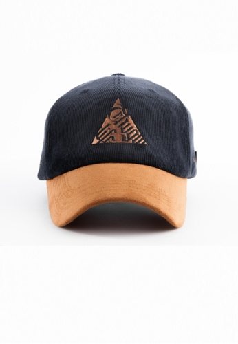 M-Wanted brown and navy M. ThugLife X OutLaw Baseball Cap MW173AC0H8XESG_1