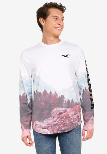 Hollister white Scenic T-Shirt 4E4C4AA938D602GS_1
