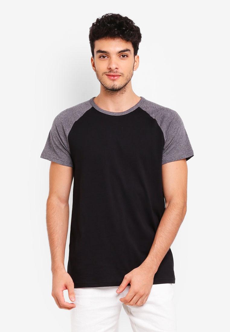 Burton Raglan T And Charcoal Menswear Charcoal Shirt London Black xSnXUw6HE