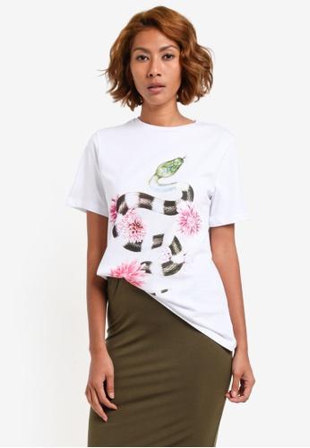 Vero Moda white Lilac T-Shirt VE975AA0S45PMY_1