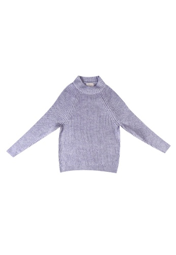 ONLY purple Knit Pullover 92E85KA096517BGS_1