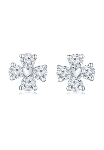 MaBelle silver 18K/750 White Color Gold Diamond Earrings 5070BAC8D21B70GS_1
