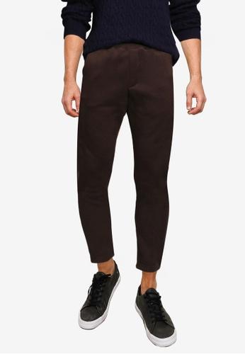 GLOBAL WORK brown Woven Trousers 79CF3AA058EEACGS_1