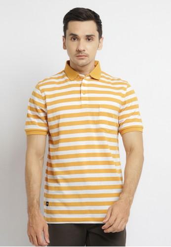 Arnett yellow Arnett Baju Pria Polo Shirt Garis Mustard Putih 9DD41AA5476BA7GS_1