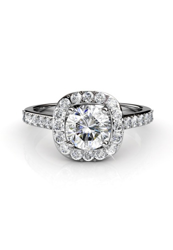 Her Jewellery silver Swarovski® Crystals - Cushy Ring (18K White Gold Plated) Her Jewellery HE581AC0RCDCMY_1