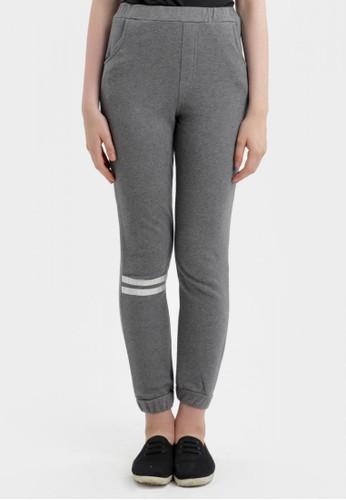 MKY Clothing Bottom Stripe Joger Pants In Grey