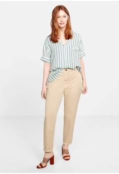140ab6ad63bcf 52% OFF Violeta by MANGO Plus Size Straight Cotton Trousers RM 208.90 NOW  RM 99.90 Sizes 42 44 46 48 50