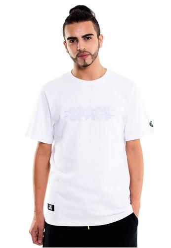 Reoparudo white RPD Reflective Cross Space Print Tee (White) RE413AA0F4B4SG_1