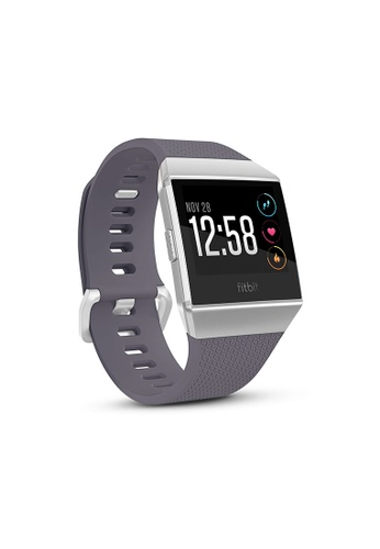 Fitbit grey and white and blue Fitbit Ionic Blue Gray/White 44D7EAC4D96821GS_1