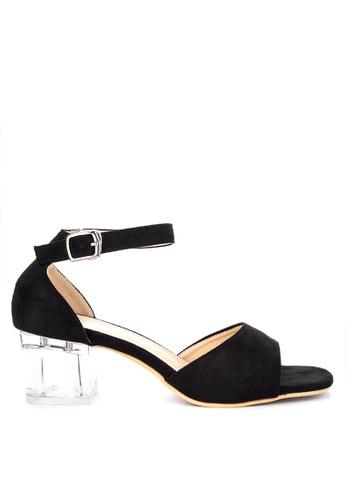 1cc8746c324 Perspex Block Heel Sandals