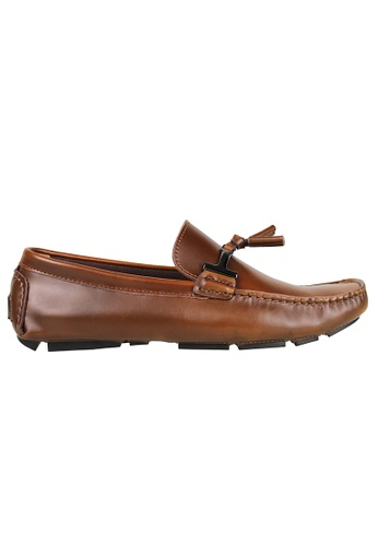 Tomaz brown Tomaz C004A Buckled Tassel Loafers (BROWN) B09EESH9A73E38GS_1