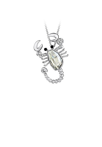 Glamorousky white Lovely Lobster Pendant with White Austrian Element Crystal and Necklaces 0951DACCD06A65GS_1