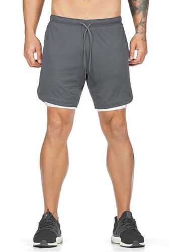 Twenty Eight Shoes grey VANSA  Casual Double Layer Sports Shorts VCM-St063 66747AA257B1CBGS_1
