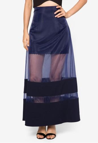 層疊歐根紗長esprit官網裙, 服飾, 服飾