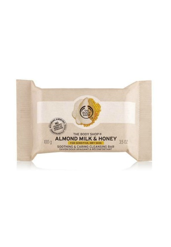 The Body Shop Almond Milk & Honey Soothing & Caring Cleansing Bar TH455BE38CTTMY_1