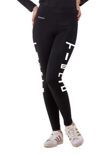 Tiento black Tiento Women Long Pants Typotype Black Celana Legging Leging Lejing Wanita Olahraga Original A7078AA2710B6AGS_1